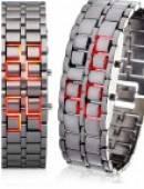 ساعت LED مدل سامورایی قرمز