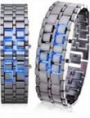 ساعت LED مدل سامورایی آبی